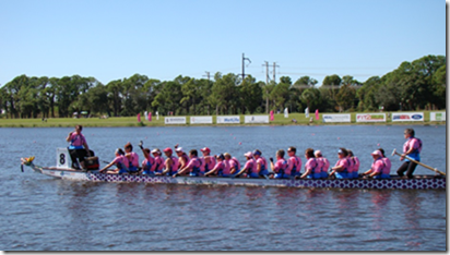 Busting with energy dragon boat team