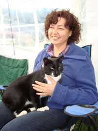 Jean with cat